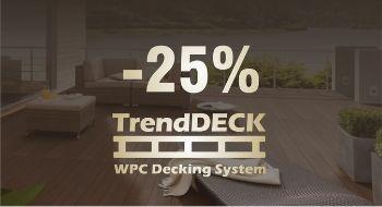 WPC teraszburkolat akció - 25 %-os kedvezménnyel