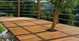 Hangulatos terasz fából