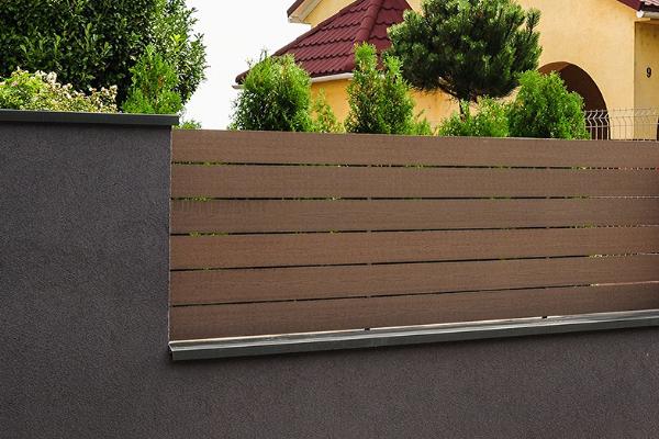 Kerítés WPC kerítés profillal