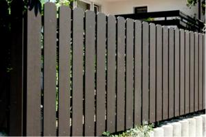 Tömör wpc kerítéslécből kerítés